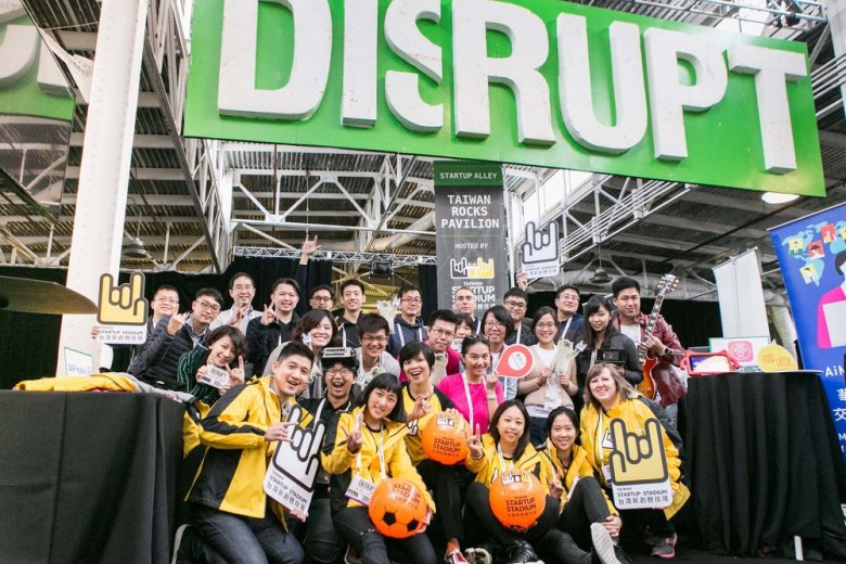 Taiwan Startup Stadium and its delegate of startups at Disrupt SF 2016. Image credit: Hung-yi Hsieh