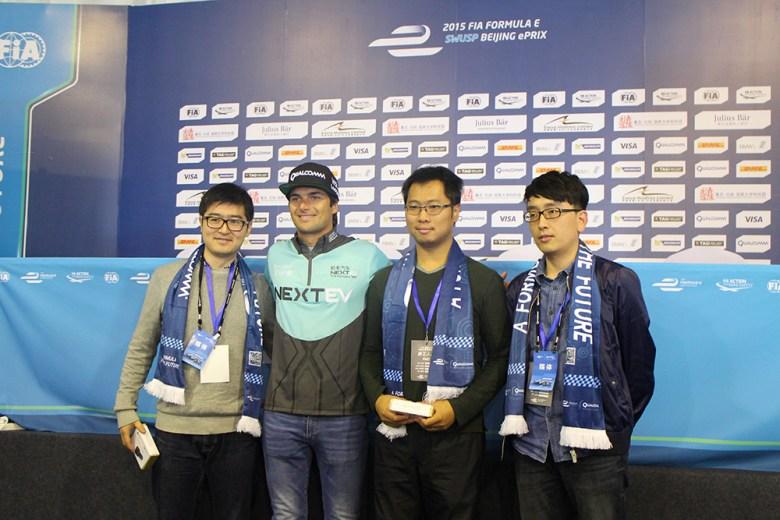 Nelson Piquet Junior in Beijing for the FIA Formula E race in 2014. Image credit: TechNode
