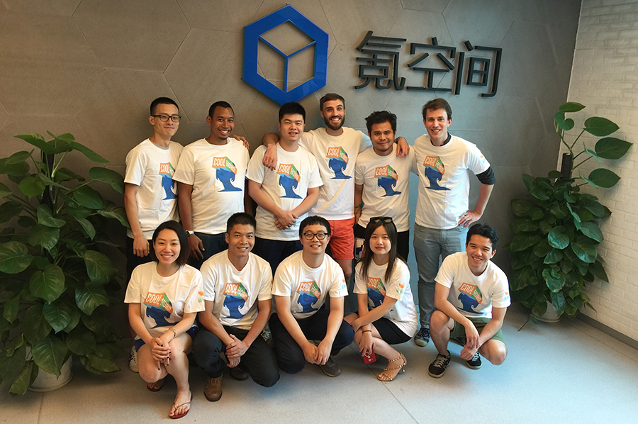 The Coolhobo team. Bentley Chen is in front, first left. (Image credit: Coolhobo)