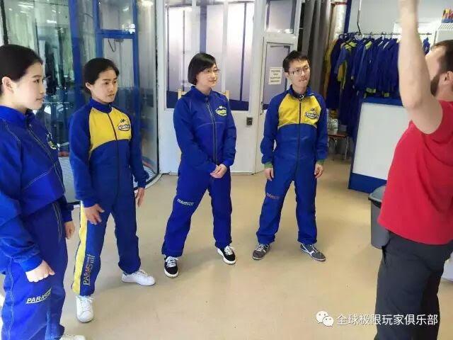 Chinese customers having space training
