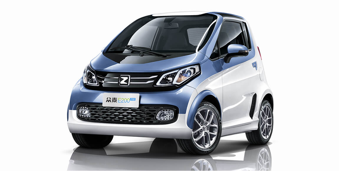 Zotye E200 Pro, one of its best-selling low-end mini-cars with a NEDC range of 301 km and a price tag RMB 70,000 after the subsidy. (Image credit: Zotye)