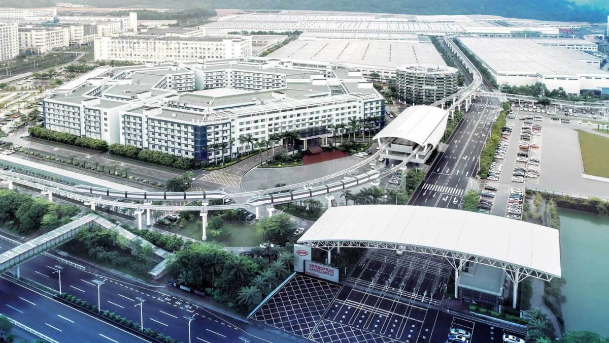 BYD's headquarters in Shenzhen, located in the southern Chinese province of Guangdong. (Image credit: BYD)