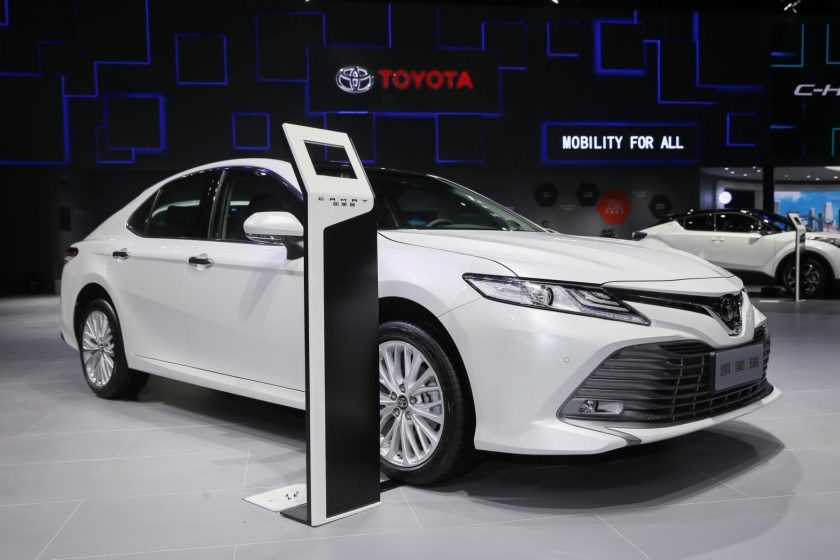 Toyota showcased its first plug-in hybrid SUV RAV4 in Shanghai Auto Show on April, 2019. (Image credit: Toyota)