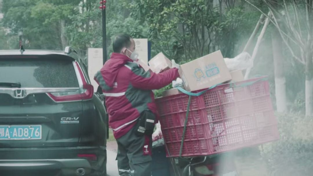 Wuhan delivery driver