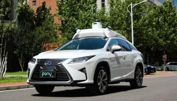 self-driving autonomous driving pony.ai toyota