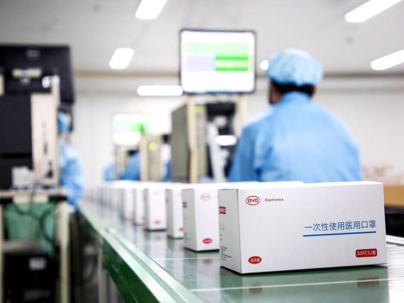electric vehicles byd coronavirus covid-19 face masks