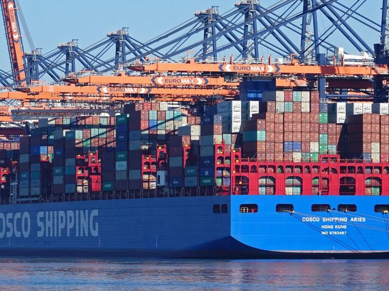 COSCO Alibaba blockchain shipping Maersk IBM