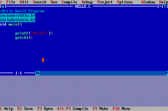 Turbo C Window