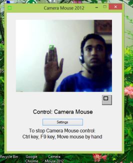 Control mouse pointer using gestures