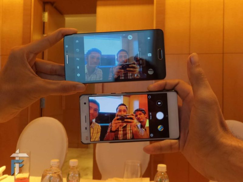 TCL 562 front camera comparison with Mi4i