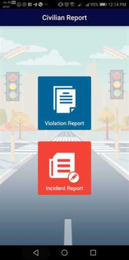 MumTrafficApp Civilian Report