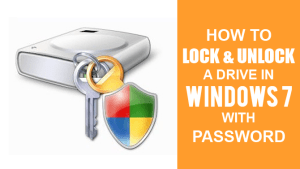 How to Lock & Unlock a Drive In Windows 7 With Password