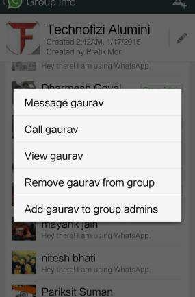 Change Group Admin