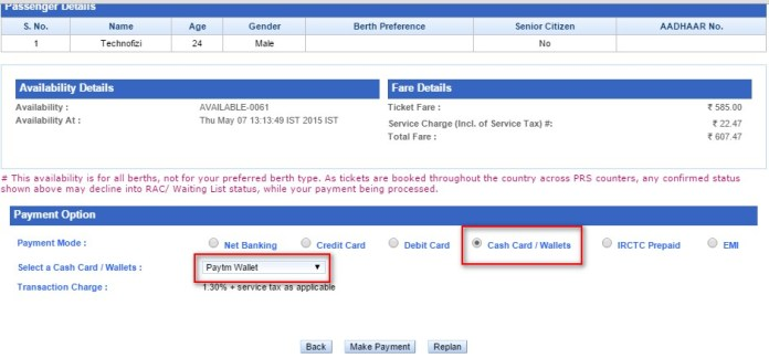 how to get train ticket on mobile