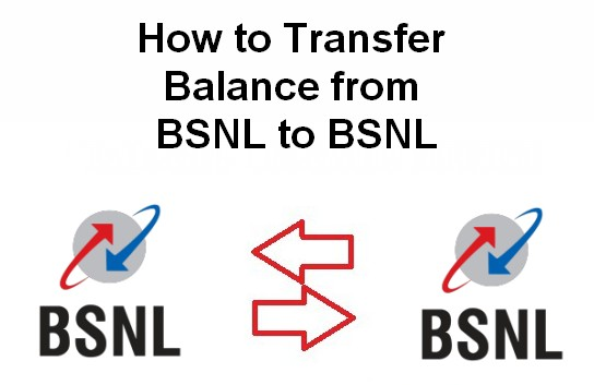 how to transfer blance from bsnl to bsnl