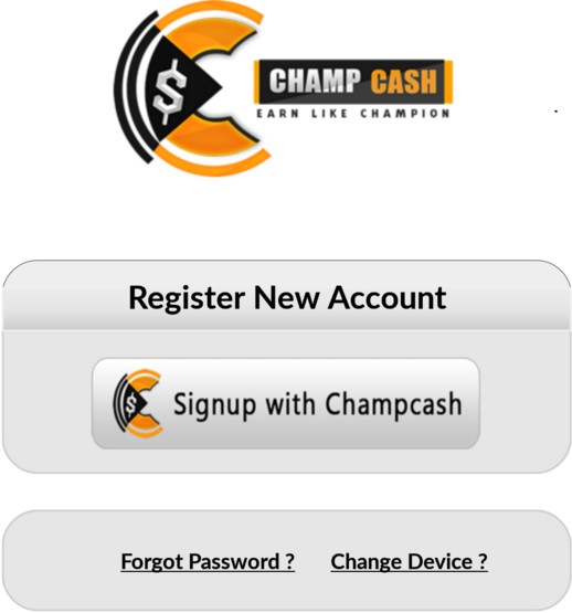 Click on 'sign-up with Champcash'