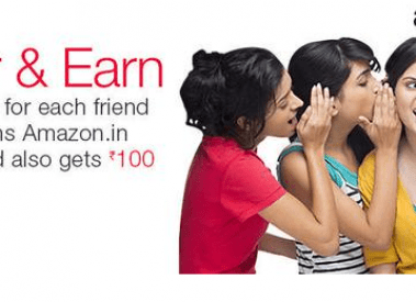 Amazon Refer and Earn Rs 200 per Referral