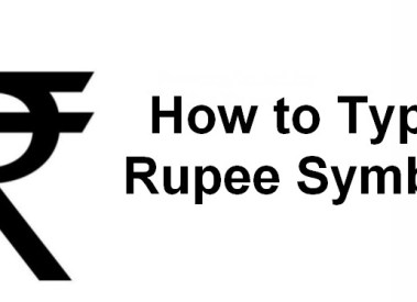 How to Type Indian Rupee Symbol ₹ in HTML & MS Word