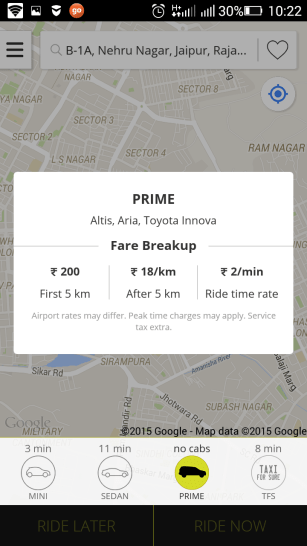 ola prime charges