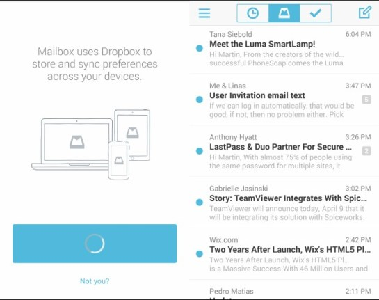 Install Mailbox on iOS or Android