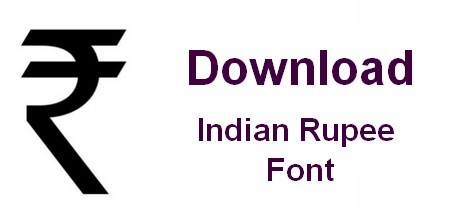 download indian rupee font
