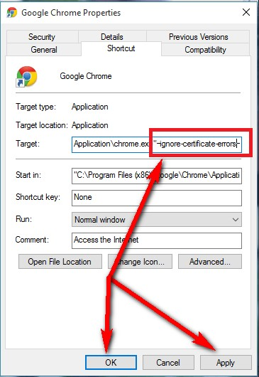 how to solve the certificate error in internet explorer