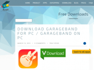 andy garageband for pc