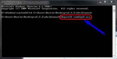 Reregister the .ocx file