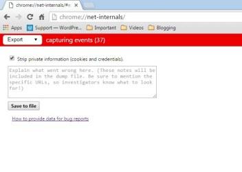 """Type """" chrome://net-internals """""""