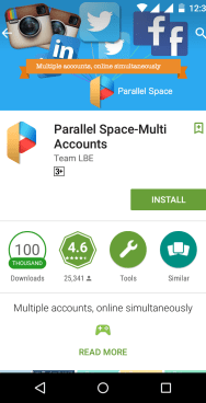 install parallel space