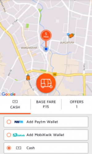 Pay with your Jugnoo wallet to get free auto rides