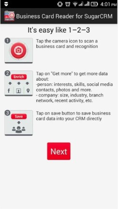 10 best business card scanner app for android and ios business card reader sugarcrm android reheart Images