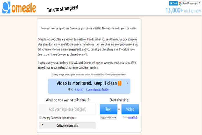 chat sites like chatroulette