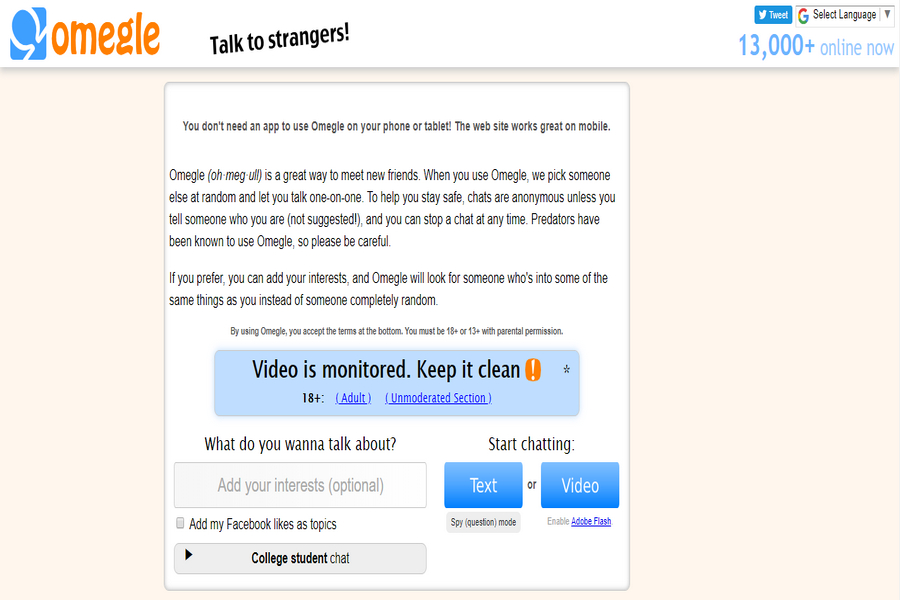 Alternative Websites like Chatroulette