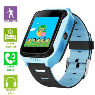 GreaSmart Kids Smartwatches with GPS Flash Night Light Touch Screen