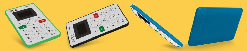 Fox Mini 1: World's Slimmest/Credit Card Size Mobile