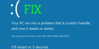 dpc watchdog violation error