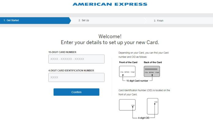 american express card confirm