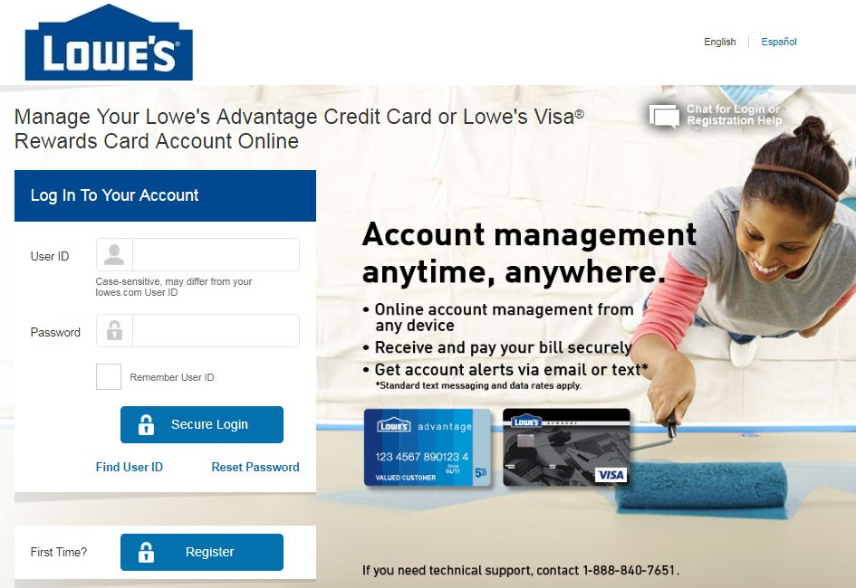 lowes card activation
