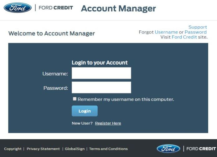 My Ford Credit >> Ford Login