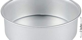 Amazon Bakeware Aluminium Round Cake Mould Cake Pan Cake Tin 7 Inches for Baking 1 kg - 1000 Grams for Oven