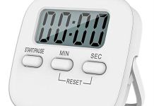 Baskety Digital Kitchen Timer Magnetic Countdown Cooking Kitchen Timers with Louder Alarm Big Digit, Back Stand Hanging Hole for Cooking Kids Teacher Shower Bathroom Oven Round