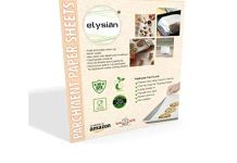 Elysian WI Non-Bleached, Non-Wax , Non-Stick Butter Paper/Bulk Parchment Paper (10x10-inch) - Pack of 50 Sheets