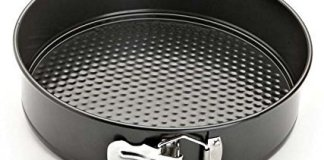 Konquer TimeS Teflon Coated Removable Base Microwave Oven Safe Non-Stick Cake Pan for 0.5 kg Cake. (18 cm)