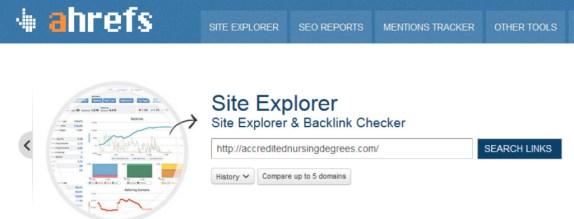 Site Explorer and Backlink Checker