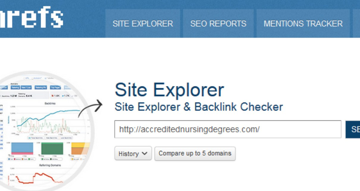 Site Explorer and Backlink Checker