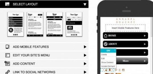 Webydo Mobile Editor