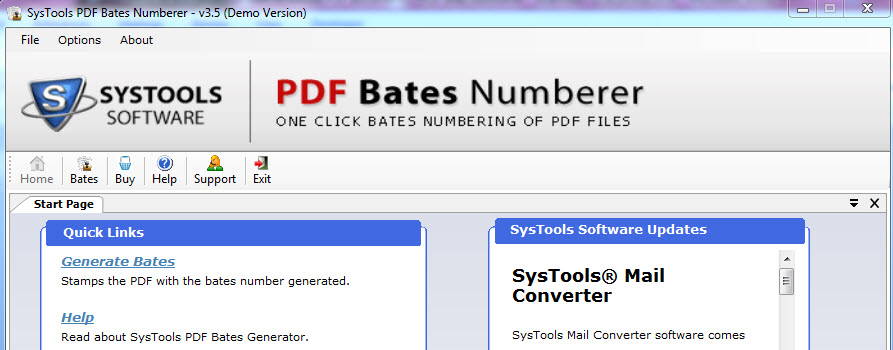 SysTools PDF Bates Numberer Software