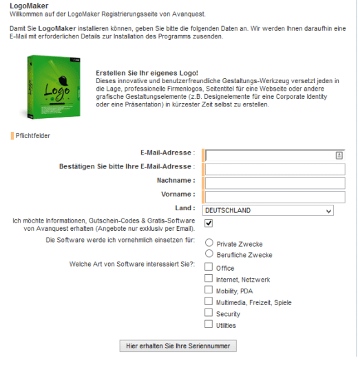 LogoMaker Registration Page