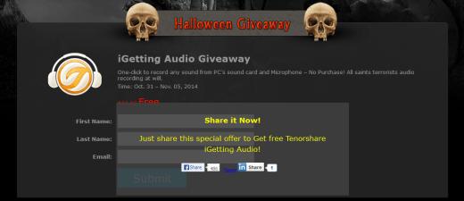 Tenorshare Halloween Giveaway
